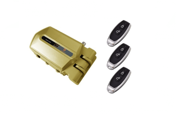 cerradura invisible con alarma goldenshield