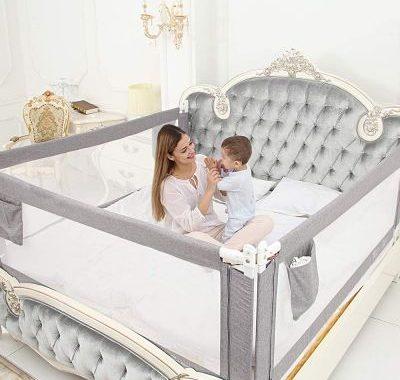 Barandilla de seguridad para camas para proteger a los niños_opt