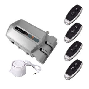 cerradura electrónica golden shield alarm con 4 mandos MÁS PODER ADICIONAL DE 120 dB