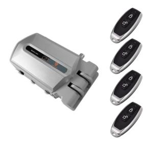 cerradura electrónica golden shield alarm con 4 mandos