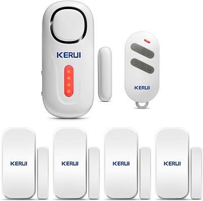 KERUI D2 Sensor de Alarma para Puertas y Ventanas con Sistema de Alarma inalámbrico para el hogar