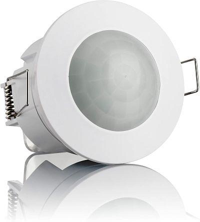 SEBSON Detector de Movimiento Empotrable Interior Montaje en Techo programable Sensor de Infrarrojos