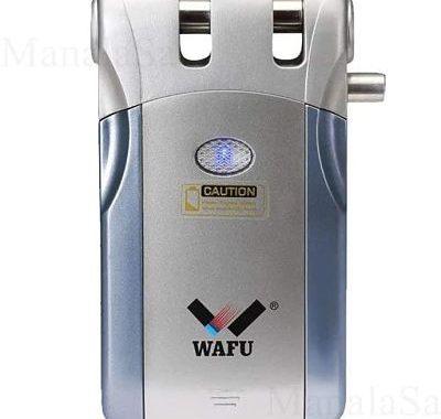 WAFU 019 Cerradura Inalámbrica Inteligente 433mHZ Cerradura Control Remoto Cerradura Invisible con 4 Control Remotos_opt