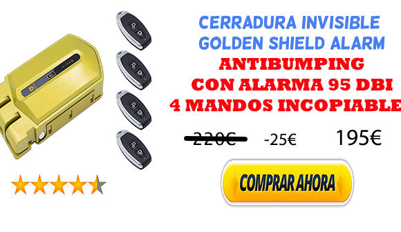 CERRADURA INVISIBLE GOLDEN SHIELD ALARM oferta