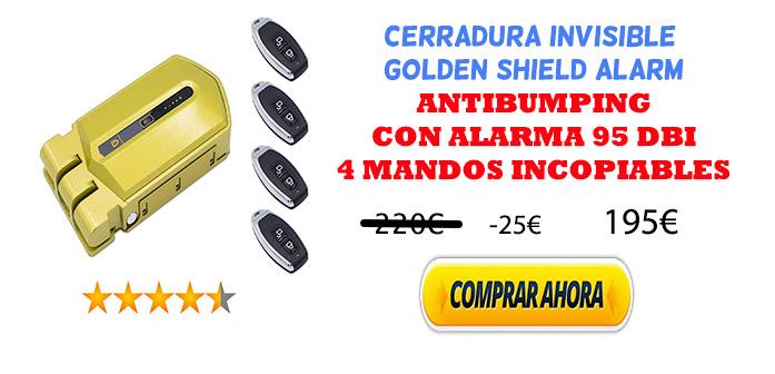 CERRADURA INVISIBLE GOLDEN SHIELD ALARM oferta
